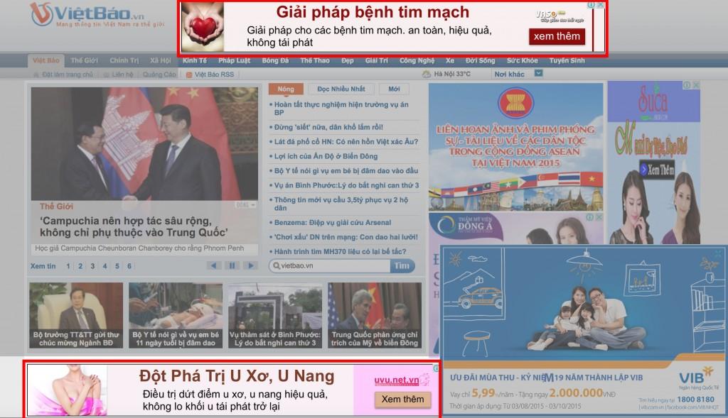 quảng cáo hình ảnh hiển thị trên các trang web